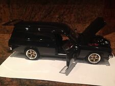 1.18 Modified HOLDEN HZ SANDMAN PANEL VAN BLACK WITH SURF BOARDS 73348