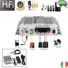 Mini HiFi Amplificatore 2.1 CH 12V 5A AC/DC Super Bass per CD MP3 MP4 Moto Auto