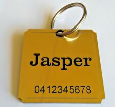 Pet Tag Personalised pet Id tag Dog tag Cat Tag not metal collar name tag