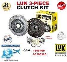 PER 1606409 93185920 Kit frizione NUOVO in scatola LUK 3 pezzi con cilindro