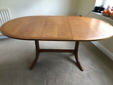 Nathan Furniture Vintage extending dining table and 4 chairs Mid Century