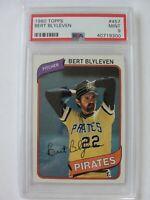 1980 Topps Pittsburgh Pirates #457 BERT BLYLEVEN PSA 9 Mint Baseball Card