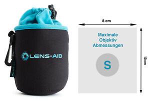 Lens-Aid Neopren Objektivbeutel mit Fleece-Fütterung - Objektivtasche Größe S