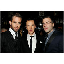 Benedict Cumberbatch, Chris Pine, and Zachary Quinto in Suit 8 x 10 inch photo