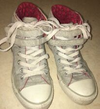 All Star Converse Hi Top Trainers Size 4 UK Grey White
