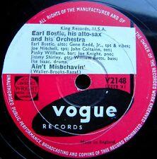 E025/ EARL BOSTIC-Saxophonist-Barmusik-Rockig bis Jazz-Musik-Angebot 3-Schellack