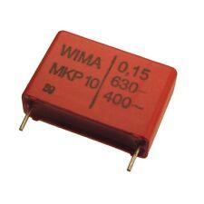 2 WIMA Impulsfester Polypropylen Kondensator MKP10 630V 0,15uF 22,5mm 089737