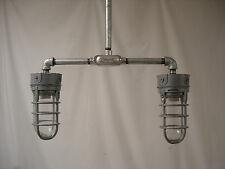 Industrial ceiling lamp explosion proof cage mid century modern light pendant 2