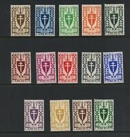 C826  Cameroun  1941  Cross & Shield definitives  14v.      MNH