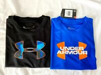 Lot of 2 Under Armour Boy's Youth Heatgear Loose Fit T-Shirt Pick Size Brand New