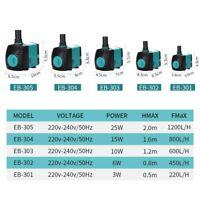 3W 6W 10W 15W 25W Submersible Water Fountain Pump Filter Fish Pond Aquarium Pump