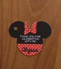 12 Personalized Custom Party Favor Tags. Minnie Mouse! Birthday, Baby Shower
