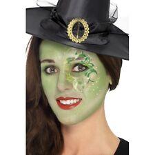 Pretty Witch Make Up Kit w Face Paints Tattoo Gem Fancy Dress Halloween Costume