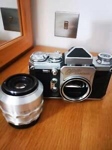 Rare Wirgin Edixa Standard M42 camera NICE condition + Zeiss Tessar f2.8 4 Parts