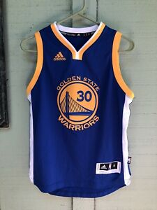 Steph Curry ADIDAS Golden State Warriors Jersey  MEDIUM NBA Royal Gold 30
