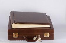 album FOTOGRAFICO con valigia artigianale misura 35x35 50 fogli neri MATRIMONIO