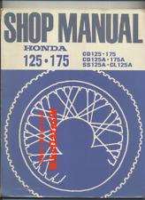 Honda CD175A SS125A (1967-1970) Genuine Factory Shop Manual SS 125 CD 175 A BW04