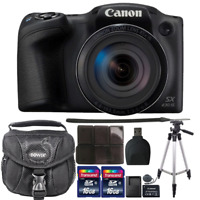 Canon PowerShot SX430 IS 20MP Digital Camera with Accessory Bundle