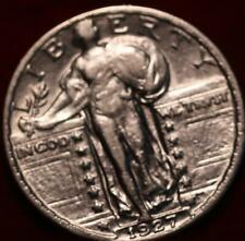Uncirculated 1927 Philadelphia Mint Silver Standing Liberty Quarter