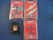 LOT AIR FORCE Airman/Cyberspace Support/Operator Insignia Rank Pins - NEW