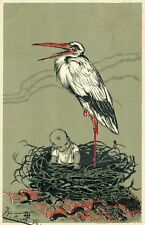 Stork With Baby Embossed 04.77