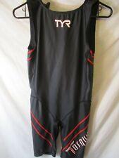 """Classic Medium Black & Red Tyr """"Torque Pro"""" Triathlon Suit-Mint"""