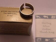 VINTAGE AVON ARIES ZODIAC THUMB RING STERLING SILVER