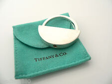 Tiffany & Co Silver Coin Edge Engravable Key Ring Keychain Rare w/ Pouch