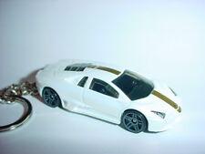 3D WHITE LAMBORGHINI GALLARDO CUSTOM KEYCHAIN KEY CHAIN keyring BACKPACK BLING