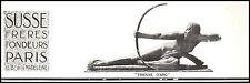 Publicité SUSSE Frères Design Art Deco Tir à L' Arc  vintage print ad 1926 -5h