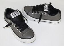 Converse All Star Street Mid Gray &  Black Leather Kids Boy US Sz 12 EURO 29 LN