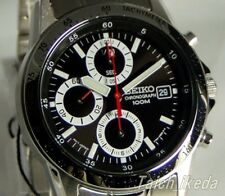 SEIKO SND371 SND371P Chronograph Tachymeter 100m Black New Men's Watch Japan