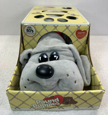 """Pound Puppies Classic 80's Collection Large 15"""" Grey Puppy NIB 2019 Reissue"""