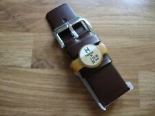 Mens HIRSCH Fashion 28mm Brown Calf Watch Strap, Silvertone Buckle, RRP £23