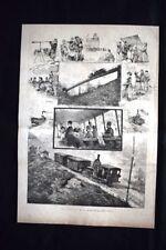 Una gita sul Righi Incisione del 1882