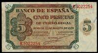 Billete de España 5 pesetas 1938 Burgos K3022254