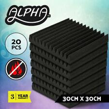 12 Tooth Acoustic Foam - Set of 20, Black
