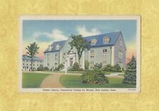 CT New London 1931-49 postcard CONNECTICUT COLLEGE Palmer Library Conn