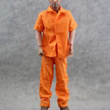 1/6 Prison Clothes Pants Suit Orange Short sleeve Uniform Fit12'' Soldier Figure