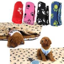 Warm Pet Mat Small Large Paw Print Cat Dog Puppy Fleece Soft Blanket Cushion JI