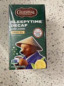 Celestial Seasonings Sleepytime Decaf Lemon Jasmine Green Tea Sealed Exp 9/22