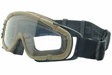 AIRSOFT PAINTBALL OPS CORE FAN ANTI FOG CLEAR SI GOGGLES GLASSES TAN SAND DE
