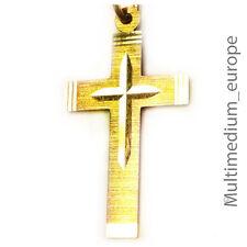 333 er Gold Kreuz Anhänger gold cross pendant 8ct