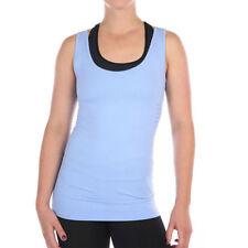 Camisetas y tops de deporte de mujer azul sin mangas