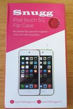 Apple iPod Touch 5th Gen Red leather Flip Case