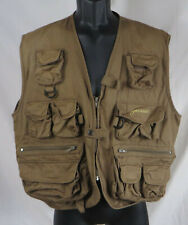 Pfluger Brown Deluxe Fly Fishing Vest L / XL Zip Front Hunting