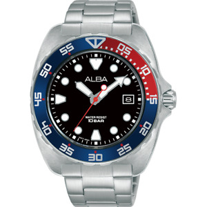 Alba Active Men's Watch with Black Dial and Pepsi Bezel AS9M99X1