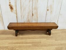 Vintage Dollhouse Miniature Artisan Handcrafted Wood Bench Nos