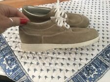 EXPENSIVE HOGAN BOYS/GIRLS/KIDS TAN SUEDE LACE UP SHOES EURO 37 US 7