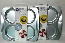 New listing Wilton Round Cookie Pops Pan Mold Birthdays Classroom Holiday Party Lot Of 2